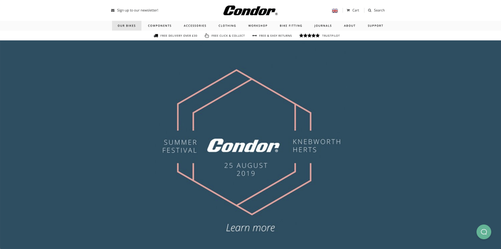Condor Cycles screengrab