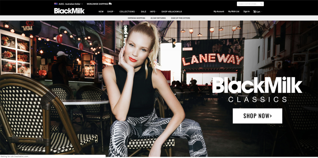 Black Milk Clothing screengrab